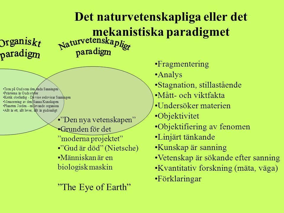 Det naturvetenskapliga eller det mekanistiska paradigmet