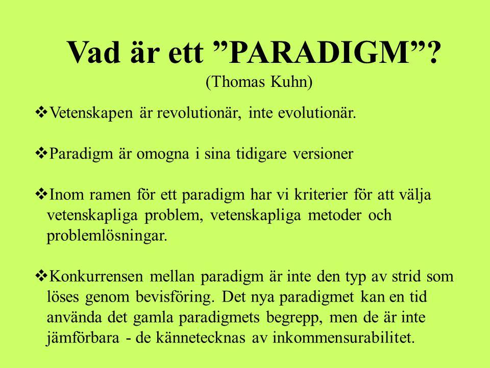 Vad är ett PARADIGM (Thomas Kuhn)