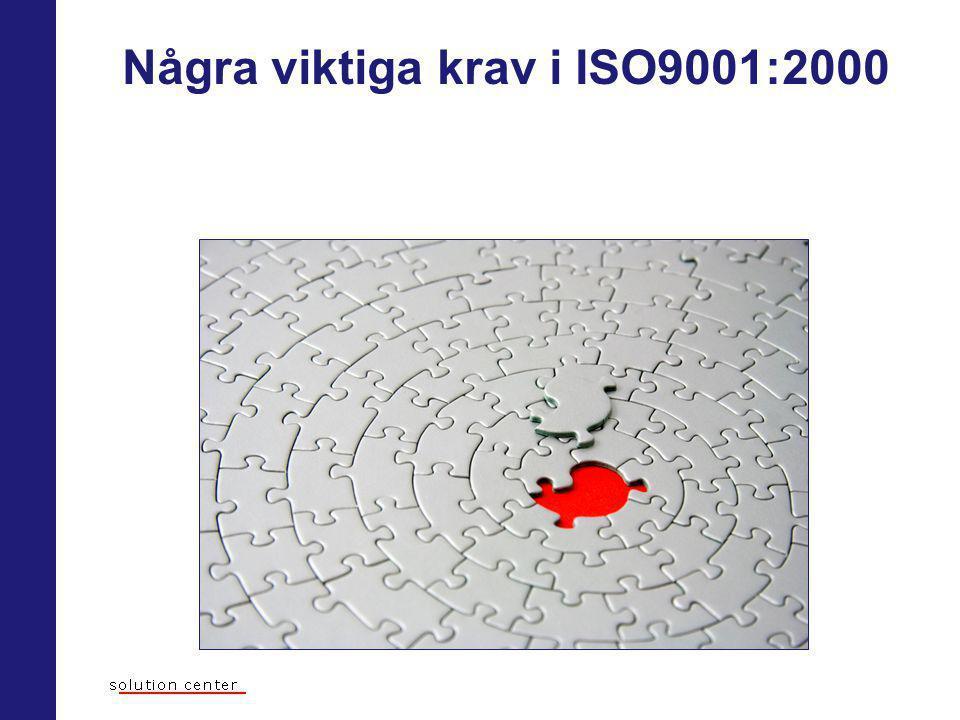 Några viktiga krav i ISO9001:2000