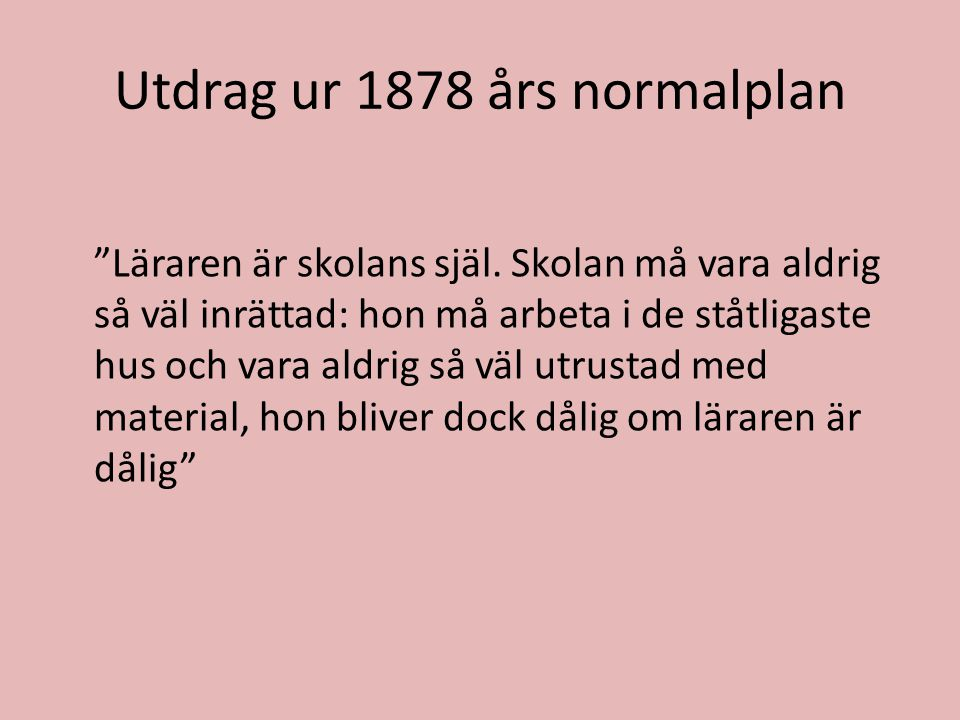Utdrag ur 1878 års normalplan