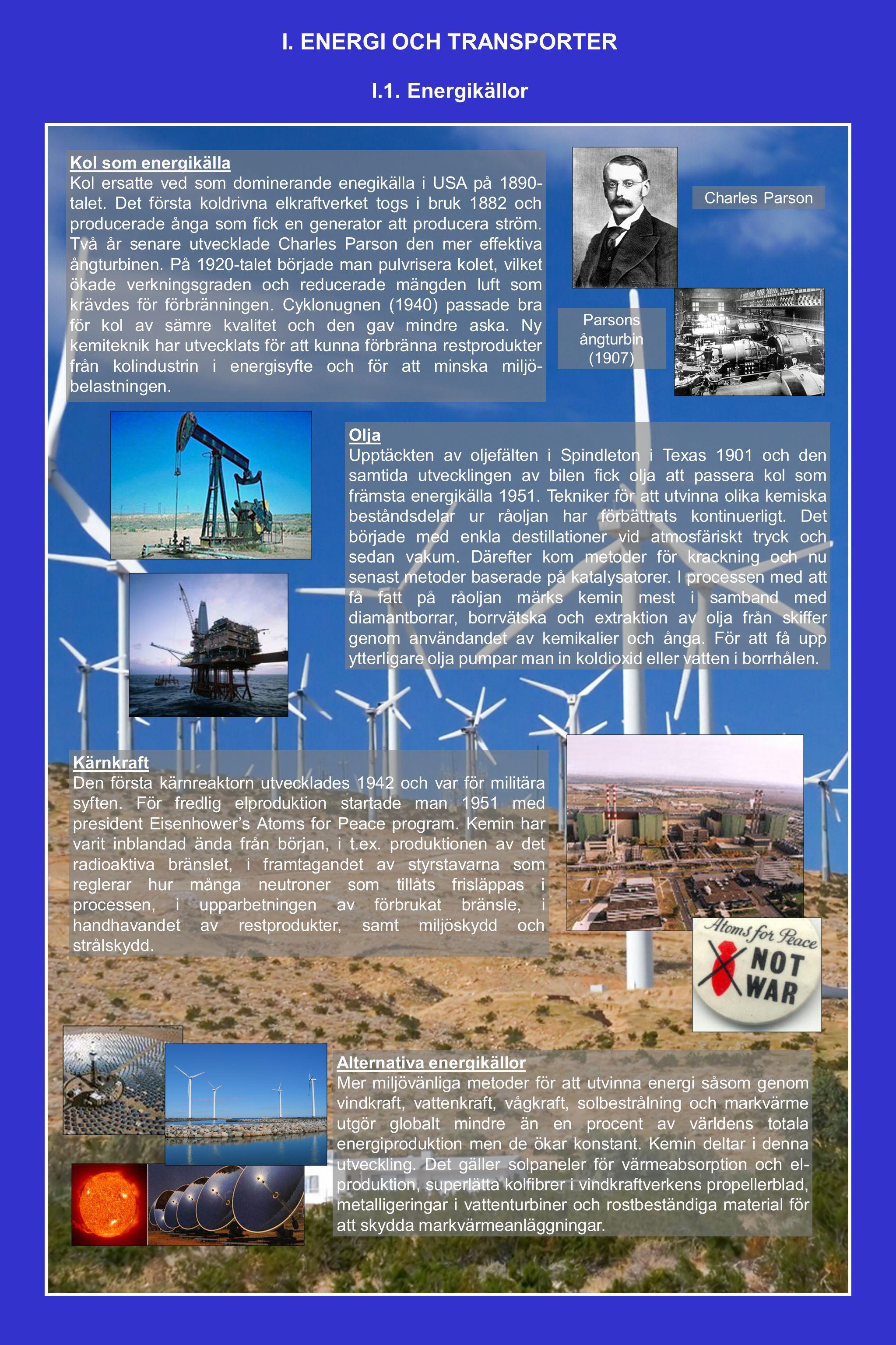 I. ENERGI OCH TRANSPORTER