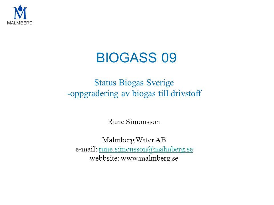 BIOGASS 09 Status Biogas Sverige