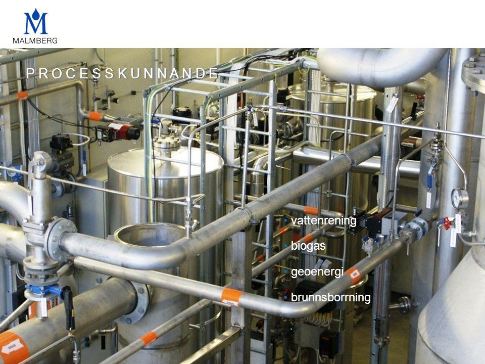 P R O C E S S K U N N A N D E vattenrening biogas geoenergi