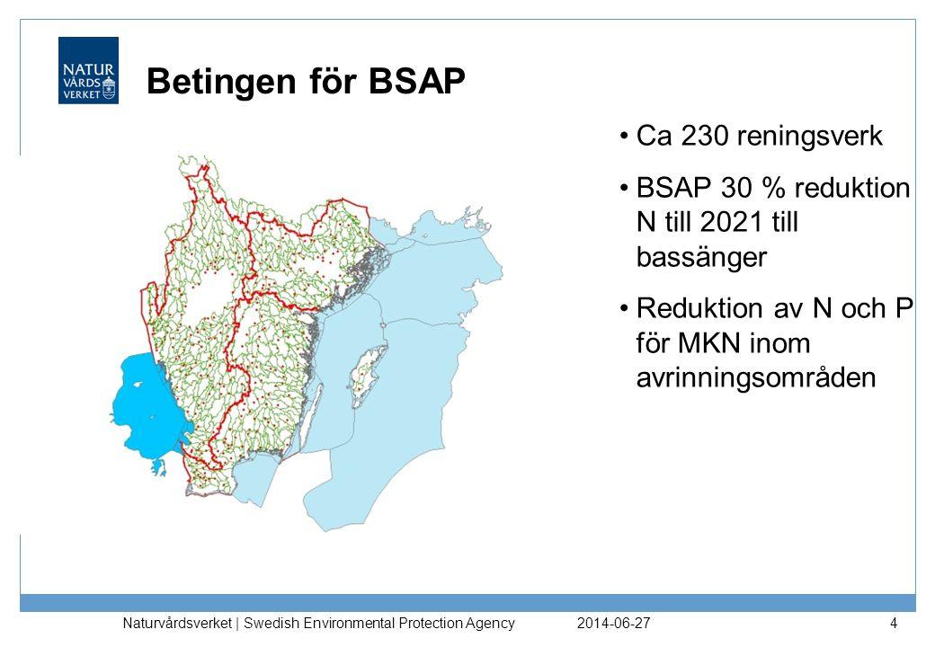 Betingen för BSAP Ca 230 reningsverk