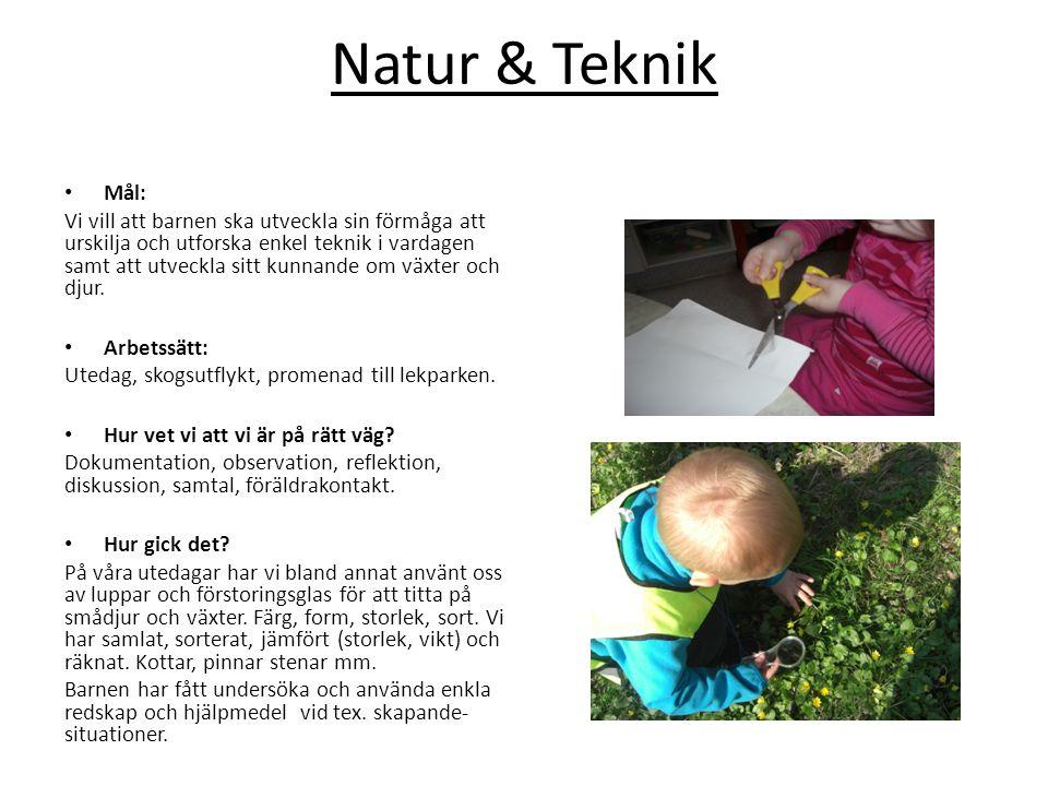 Natur & Teknik Mål: