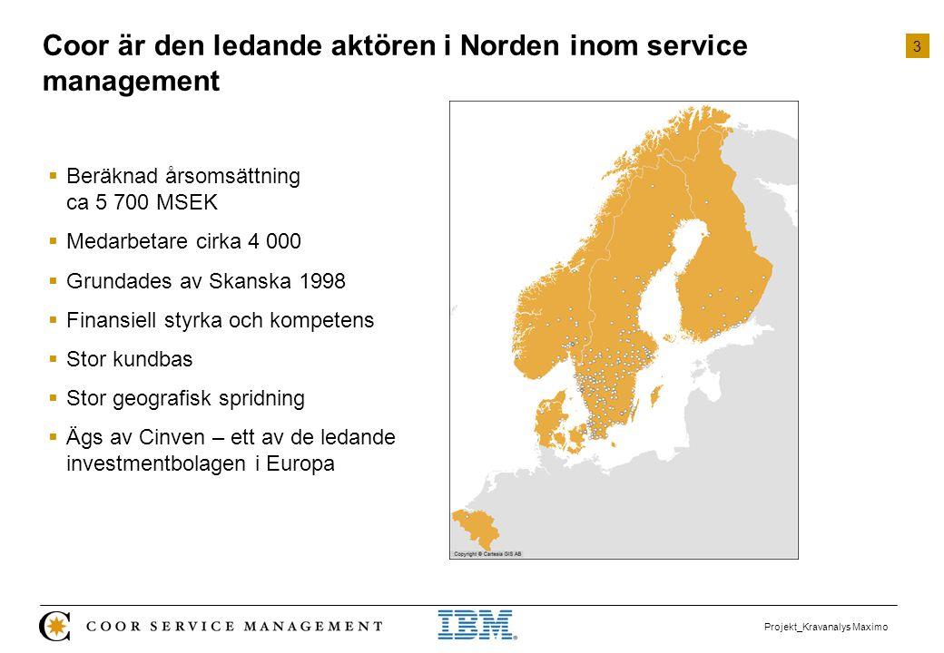 Coor är den ledande aktören i Norden inom service management