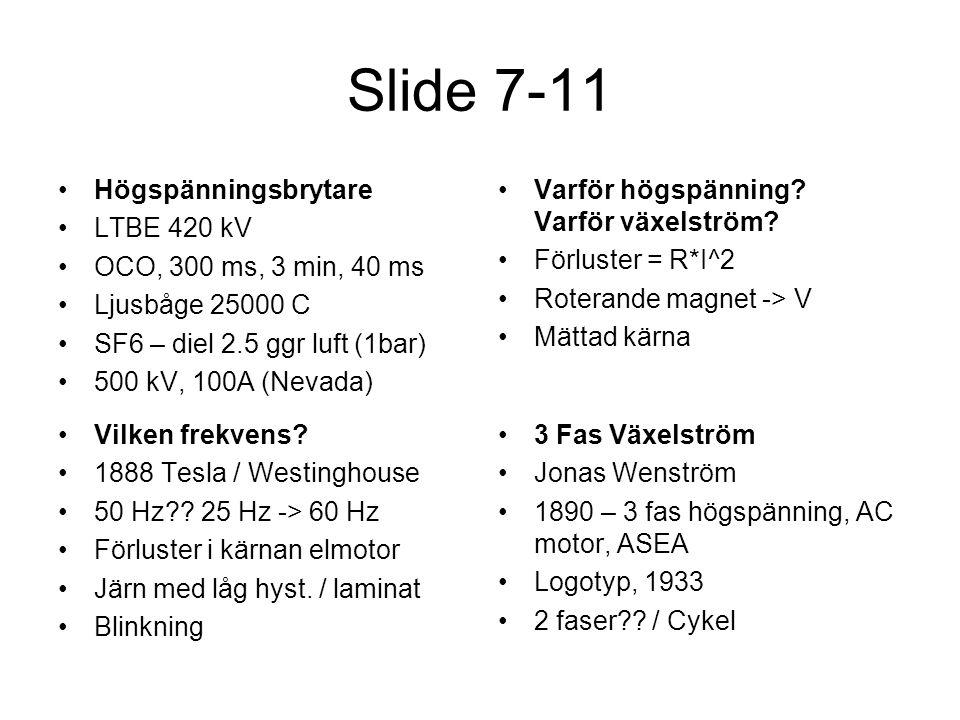Slide 7-11 Högspänningsbrytare LTBE 420 kV OCO, 300 ms, 3 min, 40 ms