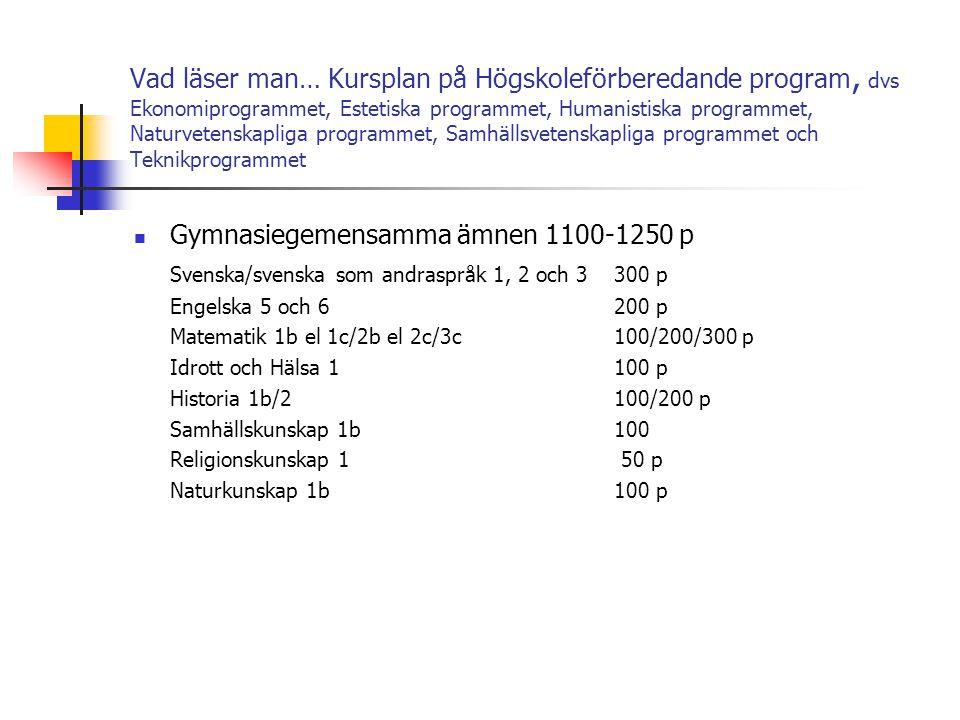 Gymnasiegemensamma ämnen 1100-1250 p