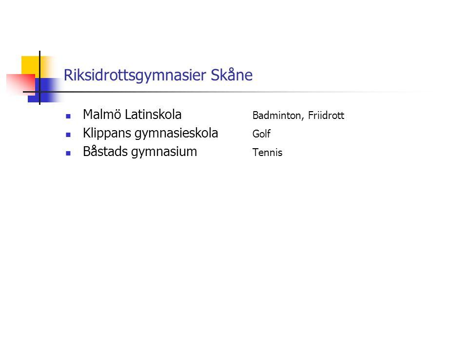 Riksidrottsgymnasier Skåne