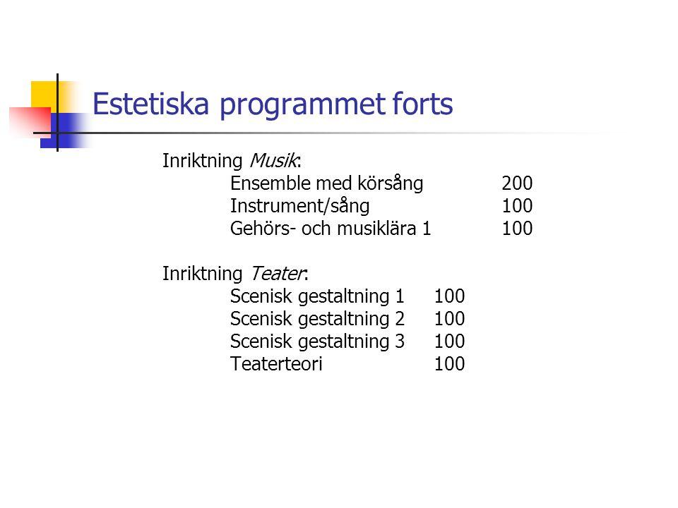 Estetiska programmet forts