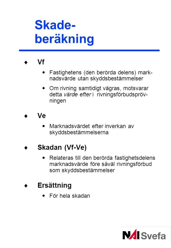 Skade- beräkning Vf Ve Skadan (Vf-Ve) Ersättning