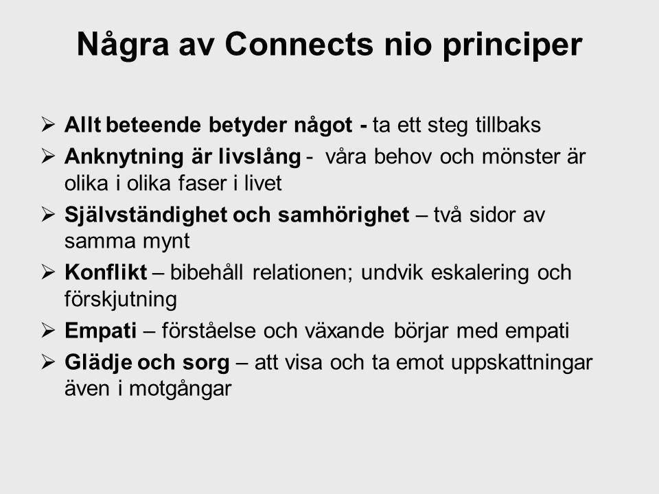 Några av Connects nio principer