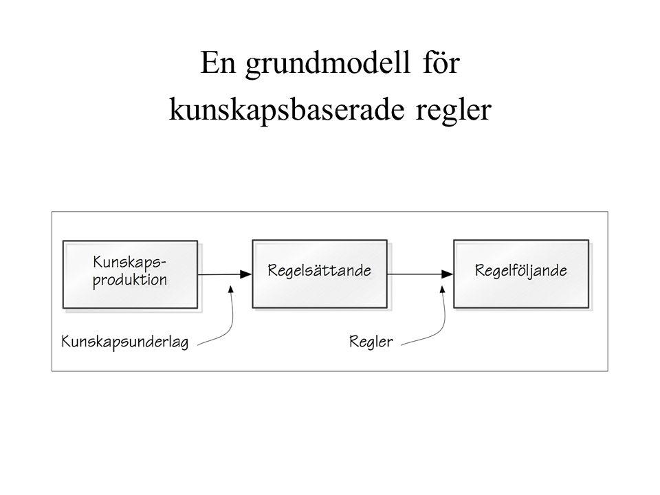 En grundmodell för kunskapsbaserade regler