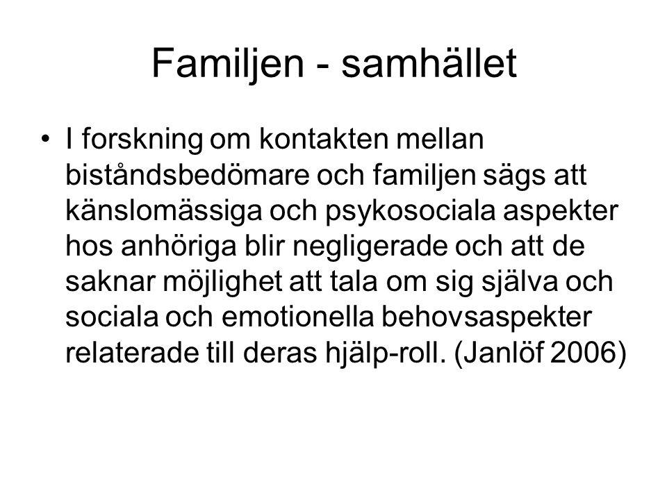 Familjen - samhället