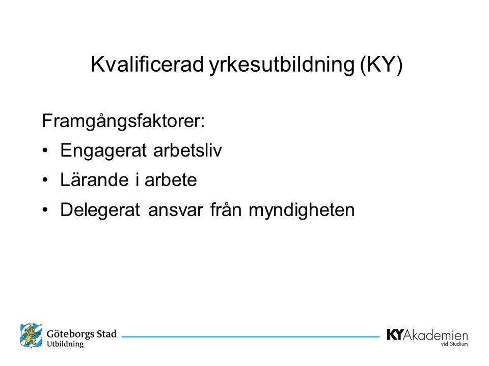 Kvalificerad yrkesutbildning (KY)