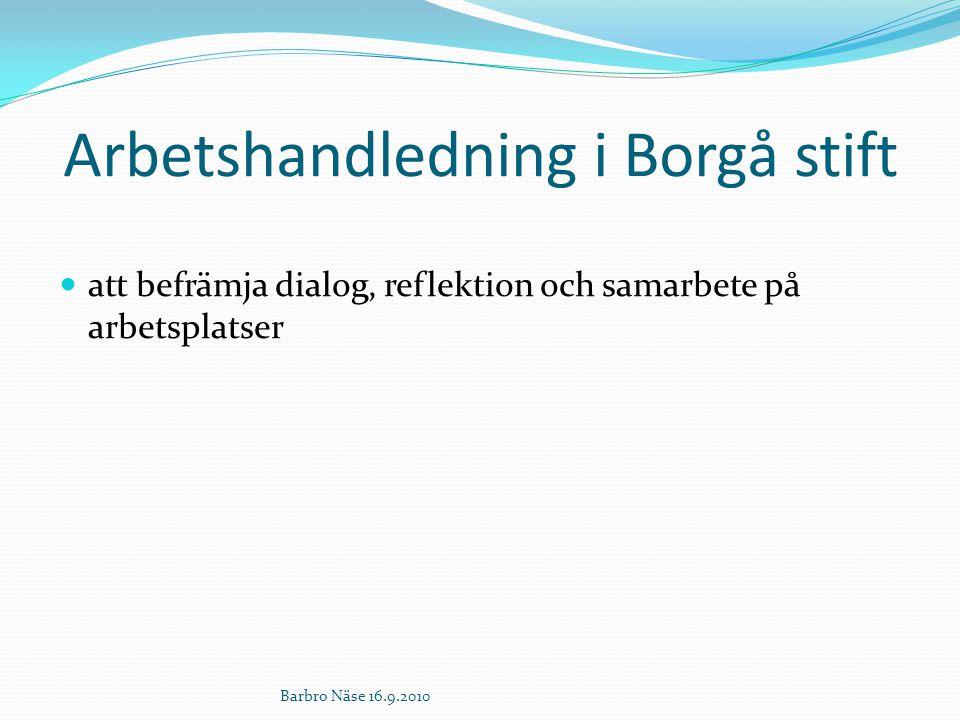 Arbetshandledning i Borgå stift