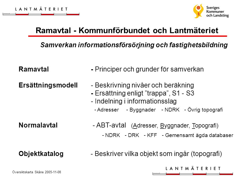 Ramavtal - Kommunförbundet och Lantmäteriet