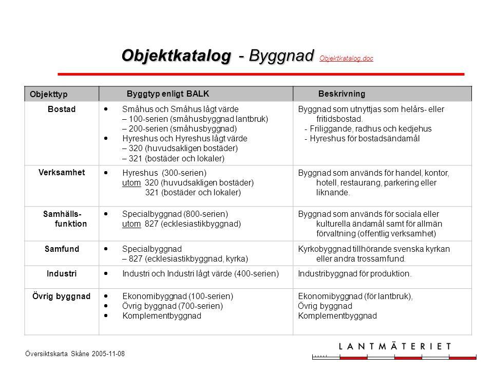 Objektkatalog - Byggnad Objektkatalog.doc