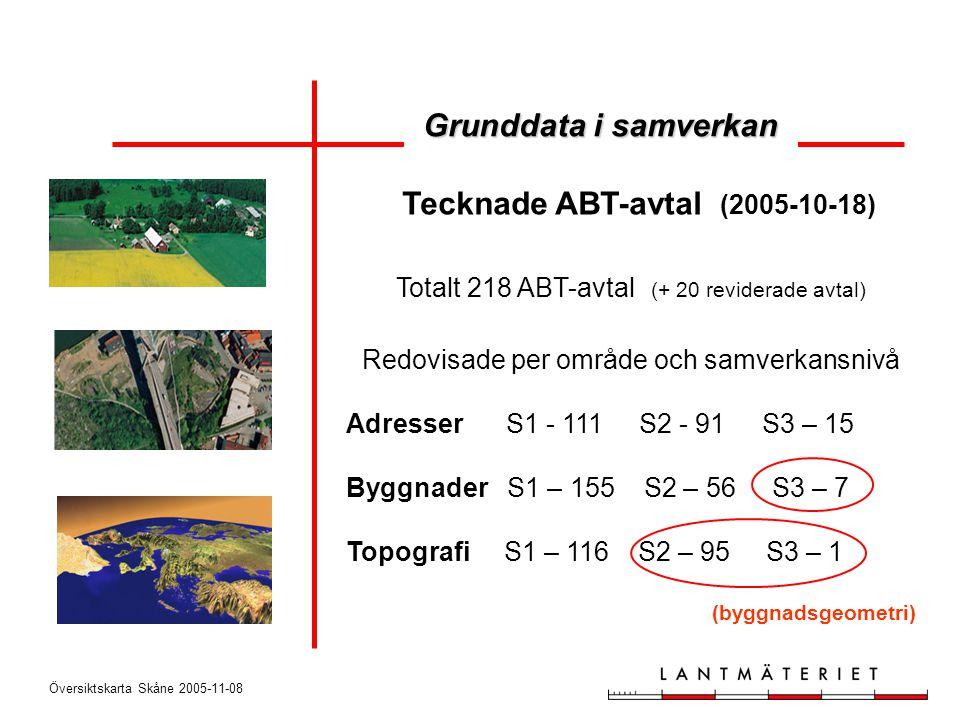 Tecknade ABT-avtal (2005-10-18)