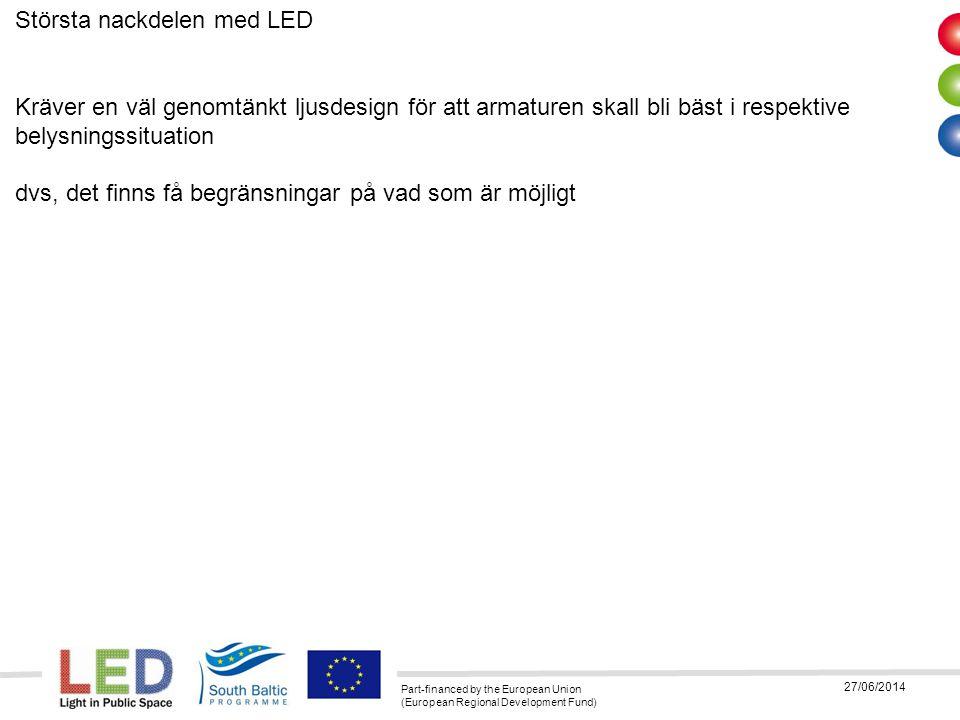 Största nackdelen med LED