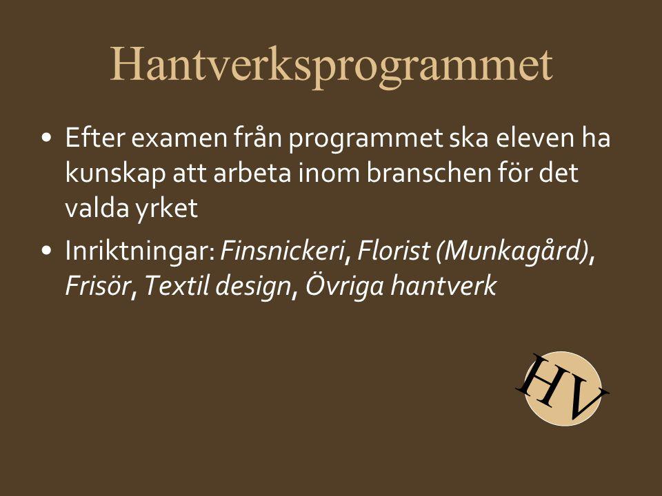 HV Hantverksprogrammet