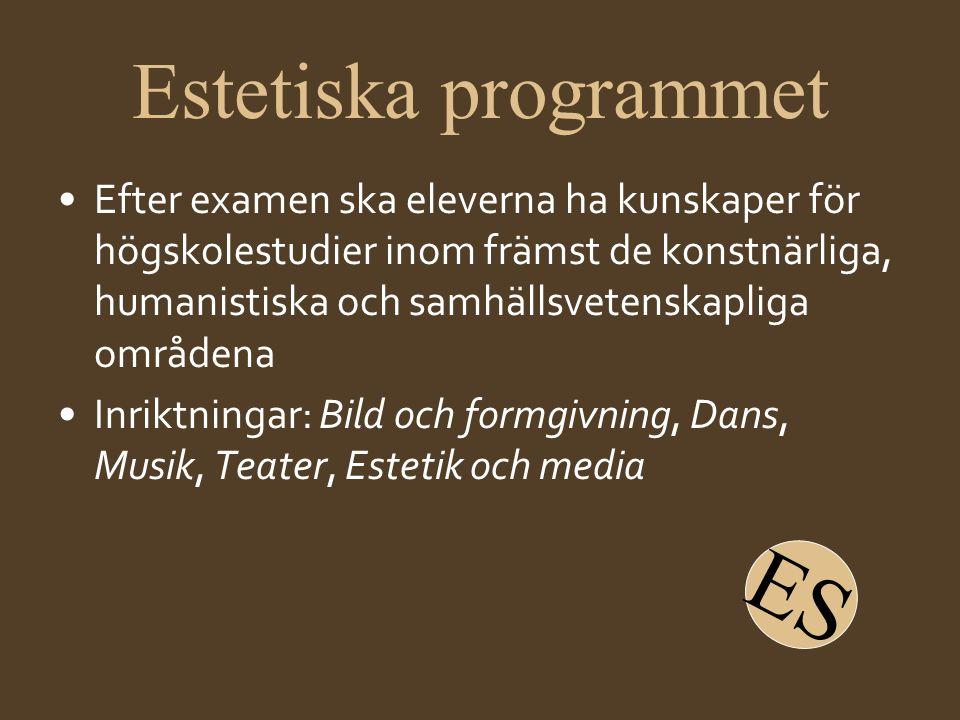 ES Estetiska programmet