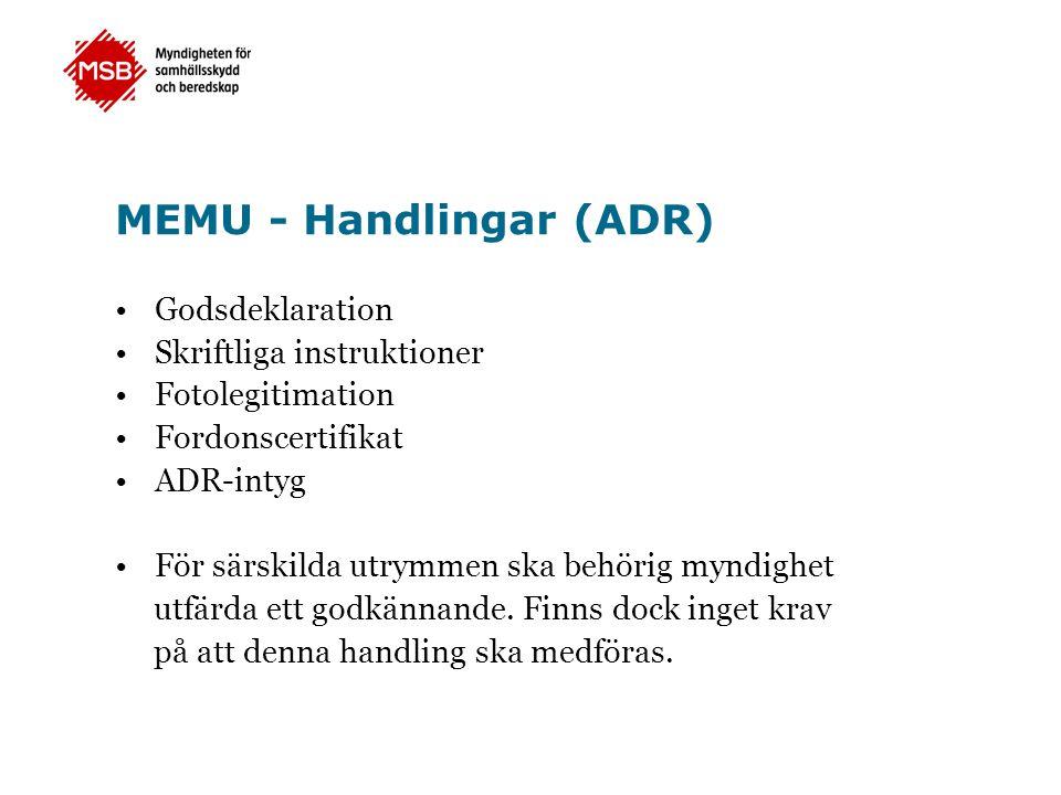 MEMU - Handlingar (ADR)
