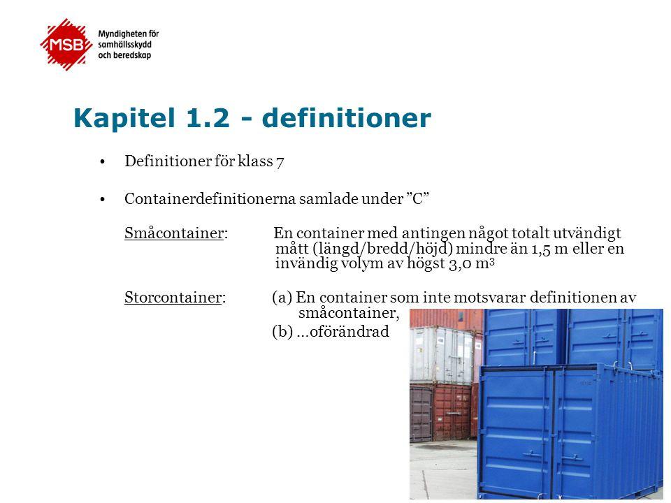 Kapitel 1.2 - definitioner