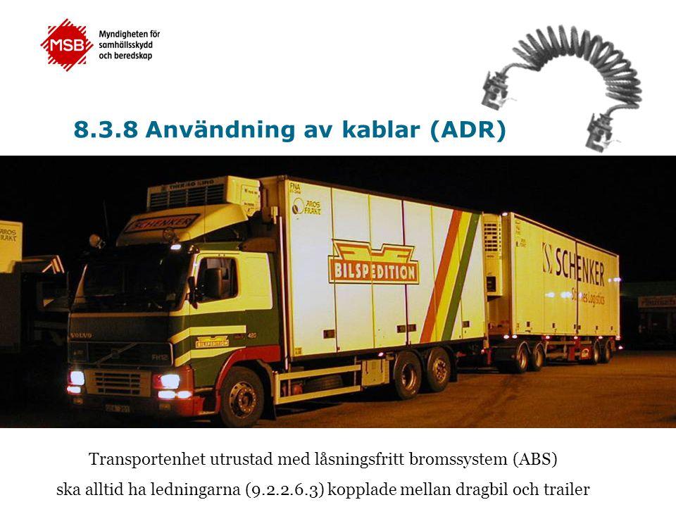 Transportenhet utrustad med låsningsfritt bromssystem (ABS)