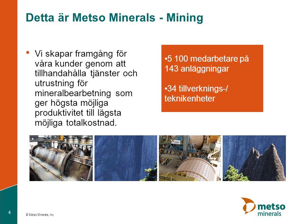 Detta är Metso Minerals - Mining