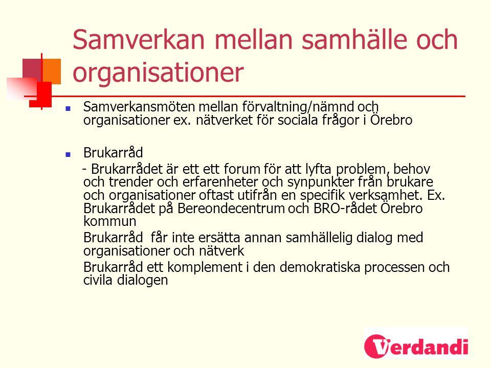 Samverkan mellan samhälle och organisationer