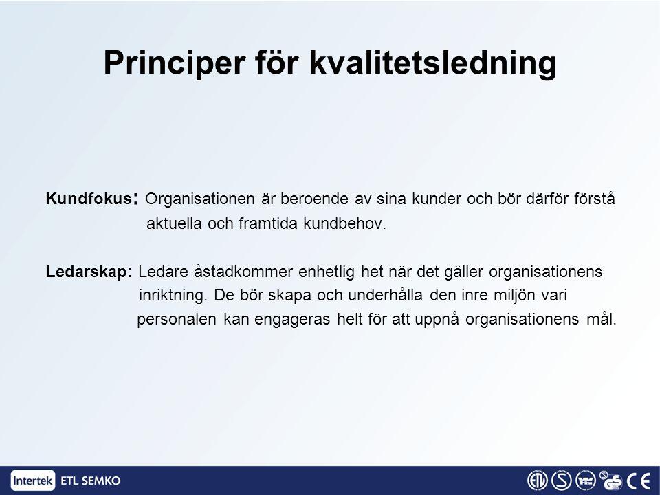 Principer för kvalitetsledning