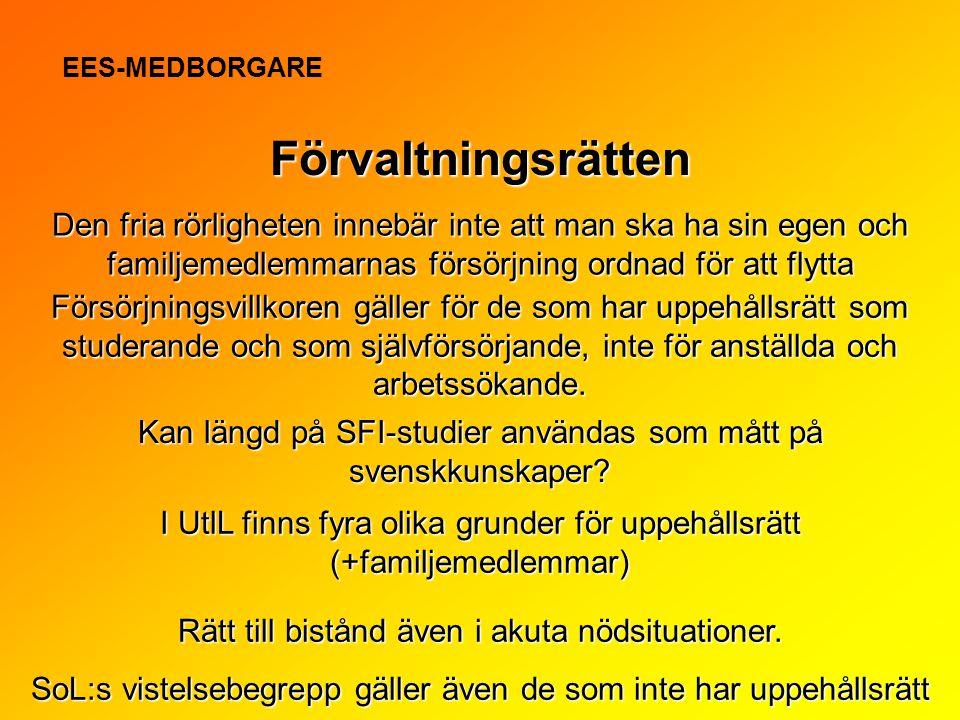 EES-MEDBORGARE Förvaltningsrätten.