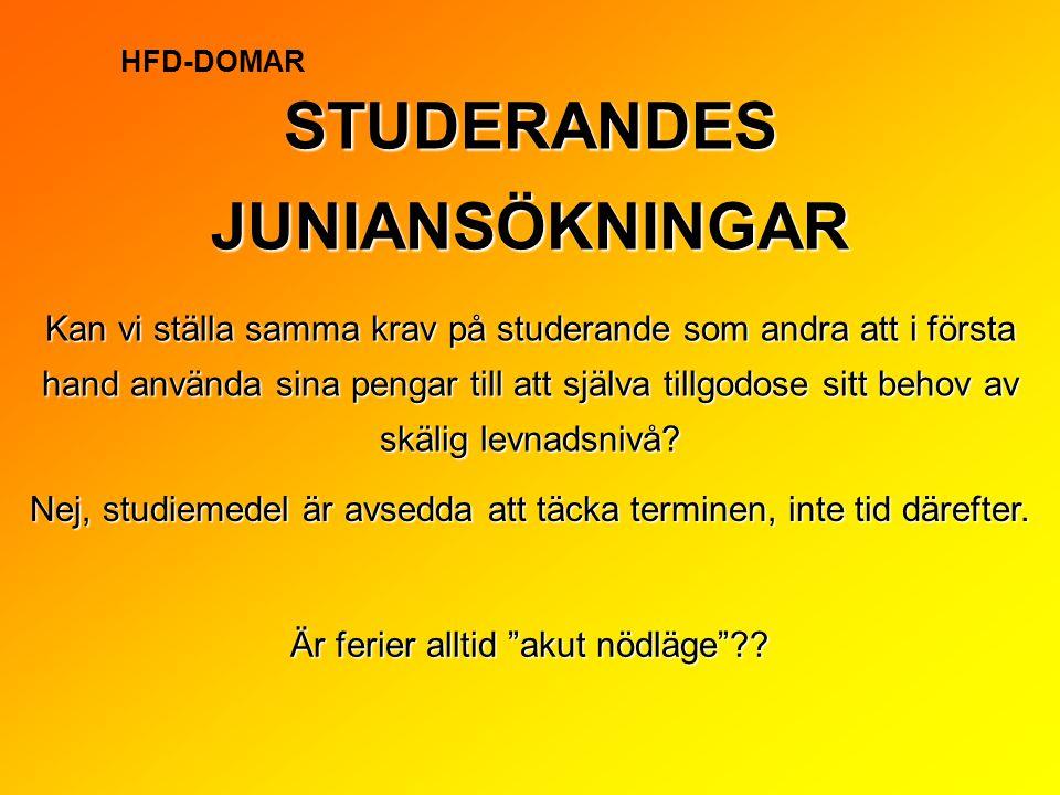 STUDERANDES JUNIANSÖKNINGAR