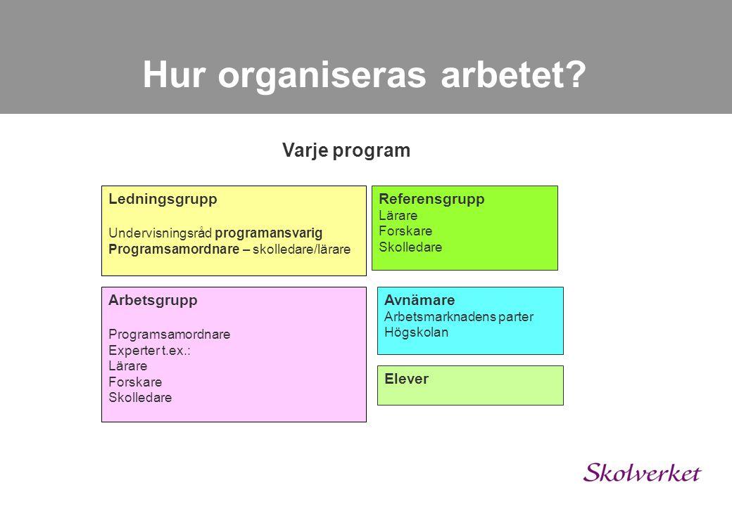 Hur organiseras arbetet
