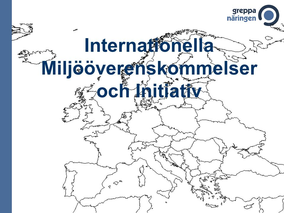 Internationella Miljööverenskommelser och Initiativ