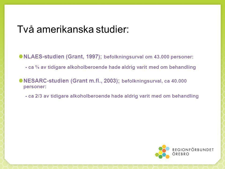 Två amerikanska studier: