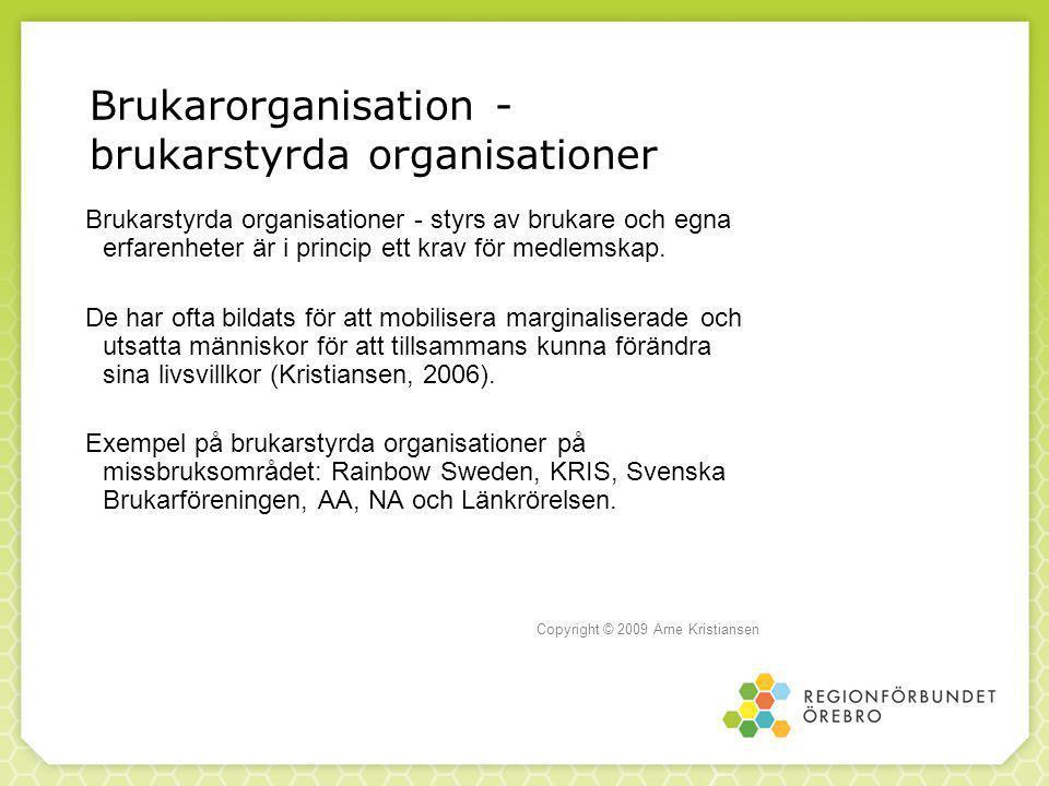 Brukarorganisation - brukarstyrda organisationer