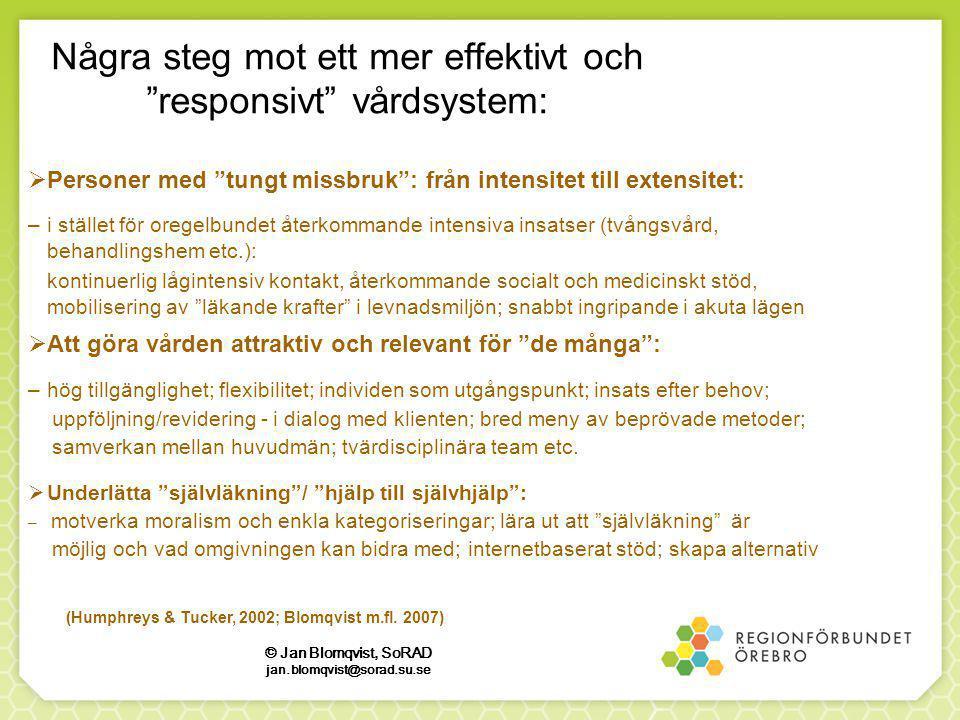 Några steg mot ett mer effektivt och responsivt vårdsystem: