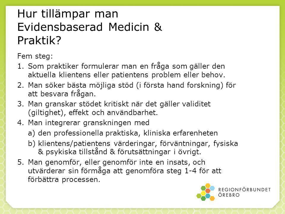 Hur tillämpar man Evidensbaserad Medicin & Praktik