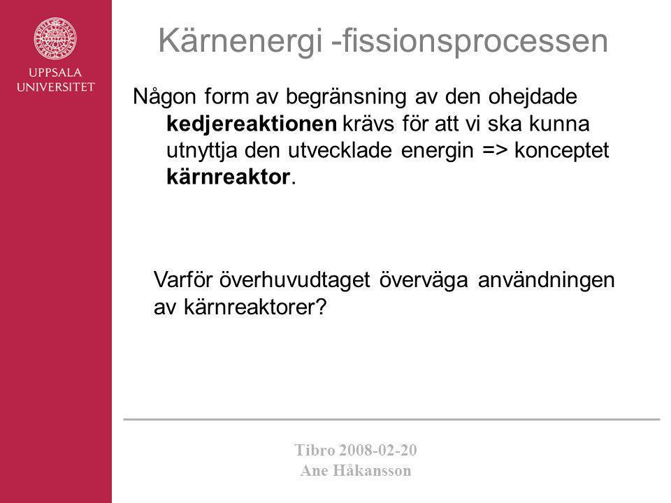Kärnenergi -fissionsprocessen