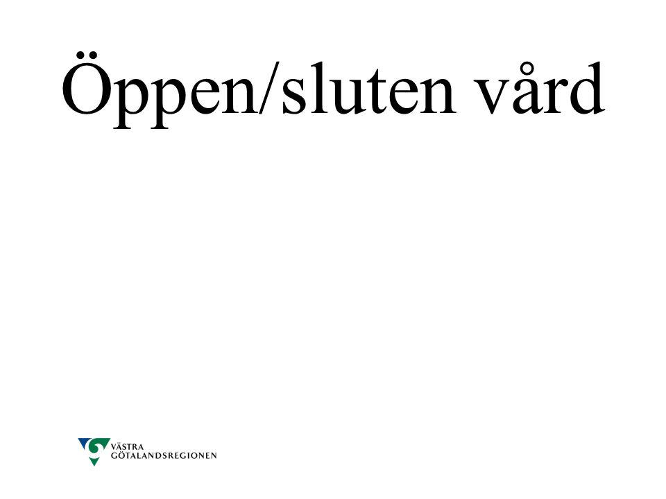 Öppen/sluten vård
