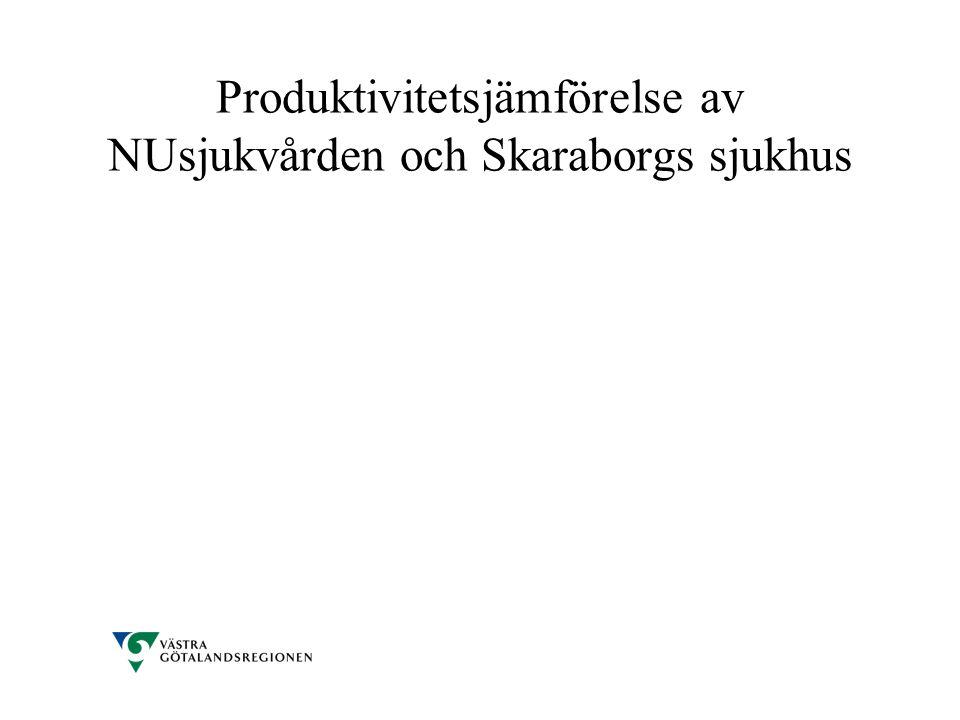 Produktivitetsjämförelse av NUsjukvården och Skaraborgs sjukhus