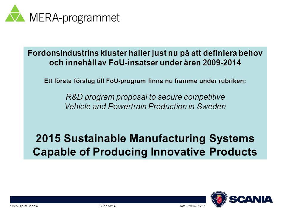 2015 Sustainable Manufacturing Systems