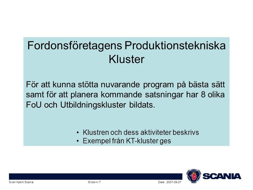Fordonsföretagens Produktionstekniska Kluster
