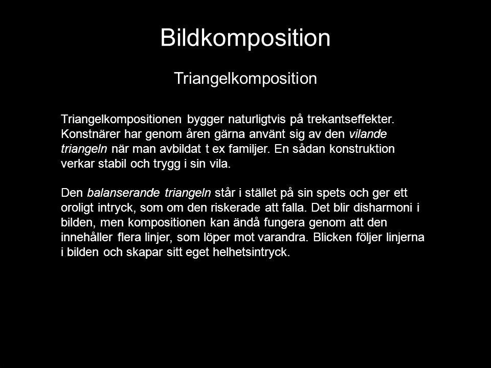 Bildkomposition Triangelkomposition