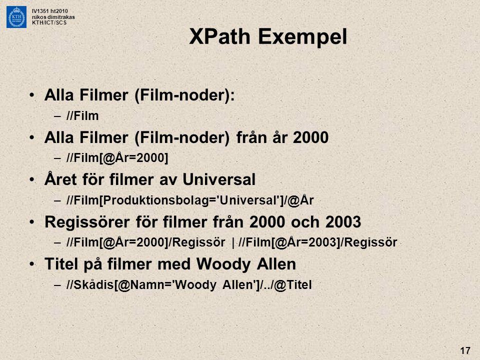 XPath Exempel Alla Filmer (Film-noder):