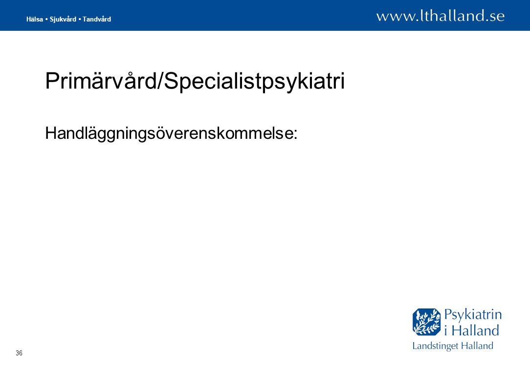 Primärvård/Specialistpsykiatri
