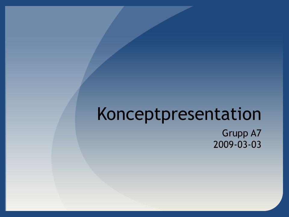 Konceptpresentation Grupp A7 2009-03-03