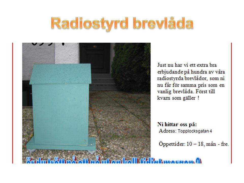 Radiostyrd brevlåda